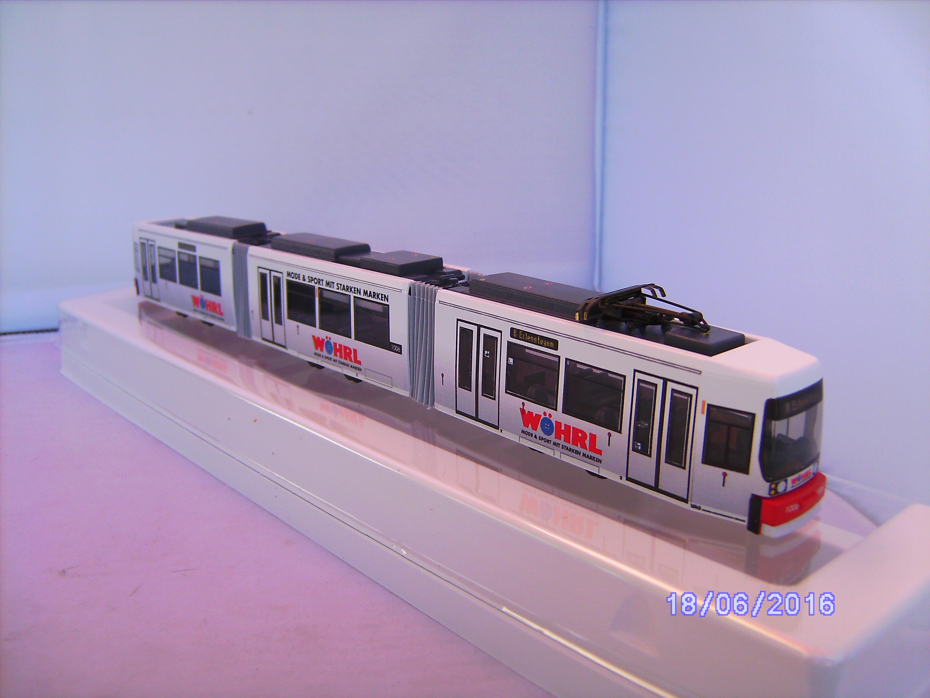 """01002 1:87 Sondermodell /""""BZ/"""" Standmodell BVG Berlin GT6 N ER HO NEU"""