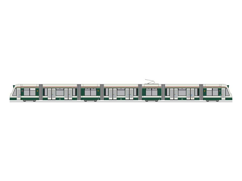 COMBINO Straßenbahn 1:87 / H0<p> 7 teilige Fahrzeuge